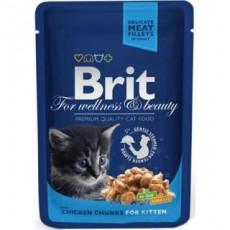 Brit Premium Vistas gabaliņi kaķēniem100g
