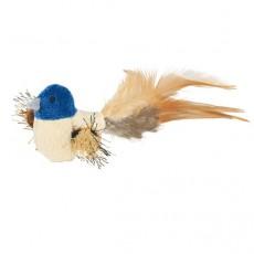 Pliša putniņš ar spalvām