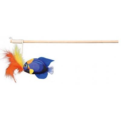 Rotaļlieta- makšķere ar zivtiņu un spalvām