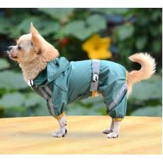 Lietusmētelis suņiem, zaļš- izmērs M