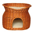 Wicker basket with sun roof